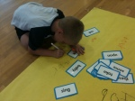 ...In between each physical activity was an opportunity for students to practice their spelling.