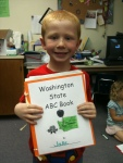 The younger children enjoyed learning about Washington State one letter at a time.