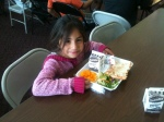 Lunchtime in Buena! Youth volunteers help serve about 50 free meals to kids each day.