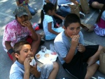 Lunch time. Over 80 young people get free lunch every day of the program.