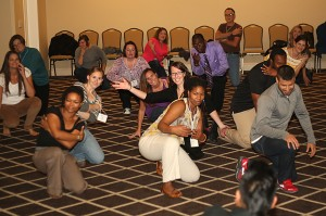 Educators also learned some hip-hop moves at the Bridge Conference this year.