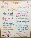 SOWA staff developed a list of our favorite activities to do with kids during the summer.